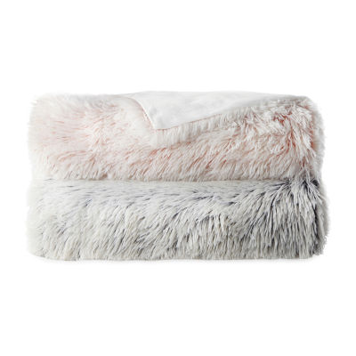 JCPenney Home Frosted Shag Throw
