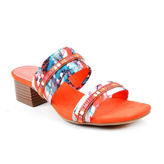 New York Transit Womens Zippity Heeled Sandals