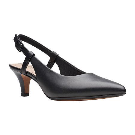 Vintage Shoes in Pictures | Shop Vintage Style Shoes Clarks Womens Linvale Loop Pointed Toe Kitten Heel Pumps Size 5 Medium Black $56.40 AT vintagedancer.com