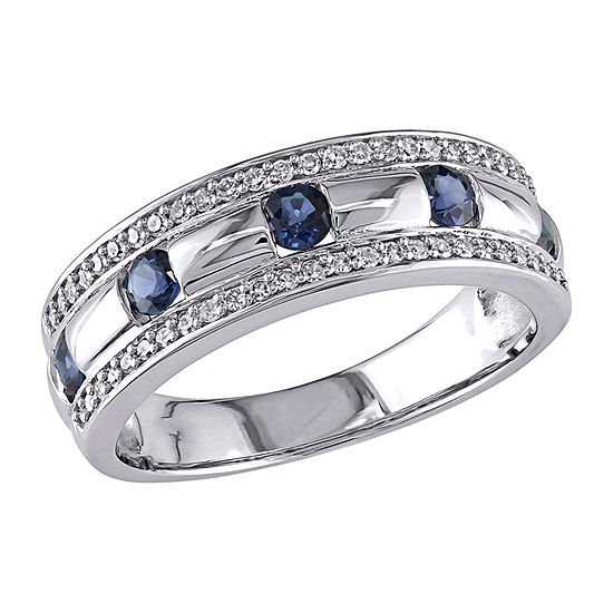 Mens 1/4 CT. T.W. Genuine Blue Sapphire 10K Gold Fashion Ring