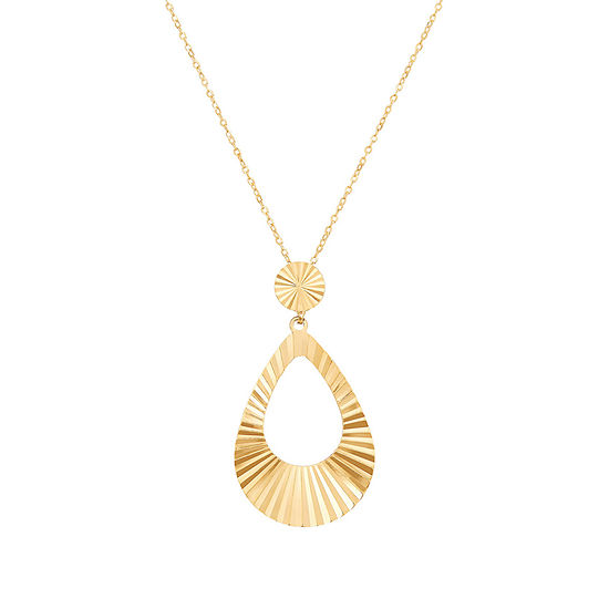 Womens 14K Tri-Color Gold Pendant Necklace