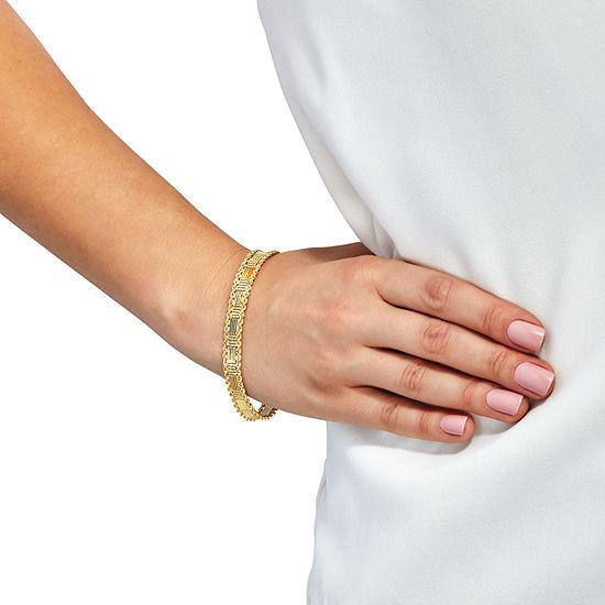 10K Gold 7.5 Inch Hollow Link Bracelet