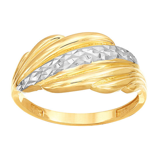 Womens 14K Two Tone Gold Band