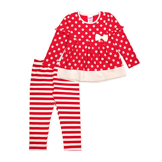 Nanette Baby Girls 2-pc. Legging Set-Preschool