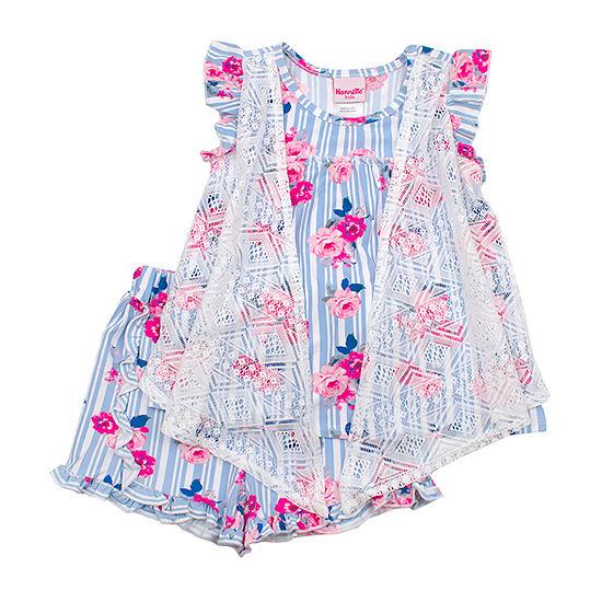 Nanette Baby Girls 2-pc. Short Set Preschool