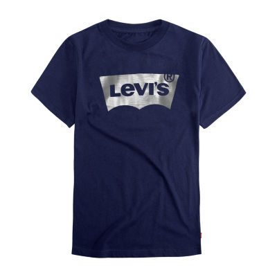 Levi's Batwing Boys Crew Neck Short Sleeve Graphic T-Shirt - Big Kid