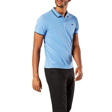Mens Vintage Shirts – Retro Shirts Dockers Mens Short Sleeve Polo Shirt Medium  Blue $22.49 AT vintagedancer.com