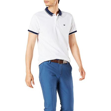 Mens Vintage Shirts – Retro Shirts Dockers Mens Short Sleeve Polo Shirt Medium  White $24.74 AT vintagedancer.com