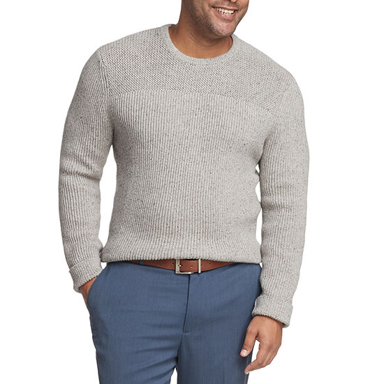 Van Heusen - Big and Tall Crew Neck Long Sleeve Pullover Sweater