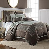 JCPenney Home Nicholai 7 Piece Jacquard Embellished Comforter Set (Multiple Colors)