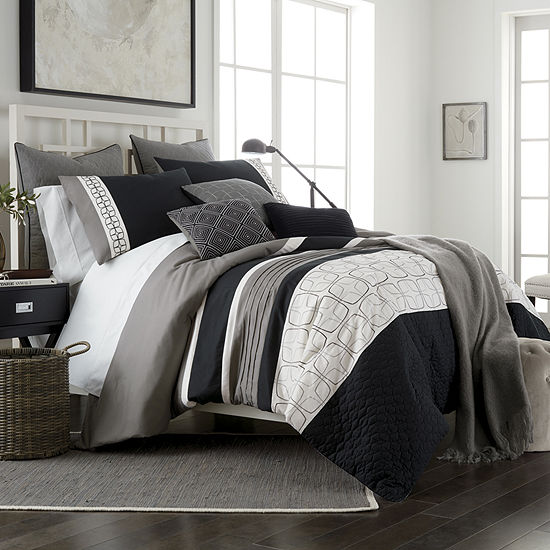JCPenney Home Emmett 10-pc. Embroidered Comforter Set