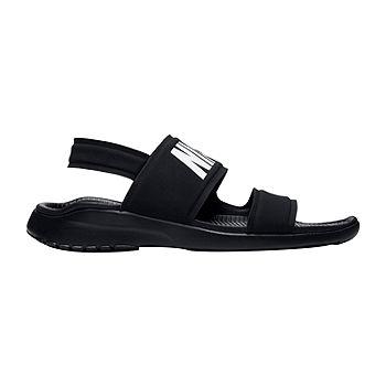Nike Womens Tanjun Slide Sandals, Color: Black White Black - JCPenney
