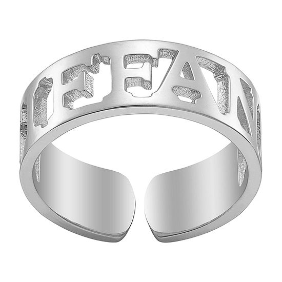 Womens 5.5MM Sterling Silver Band