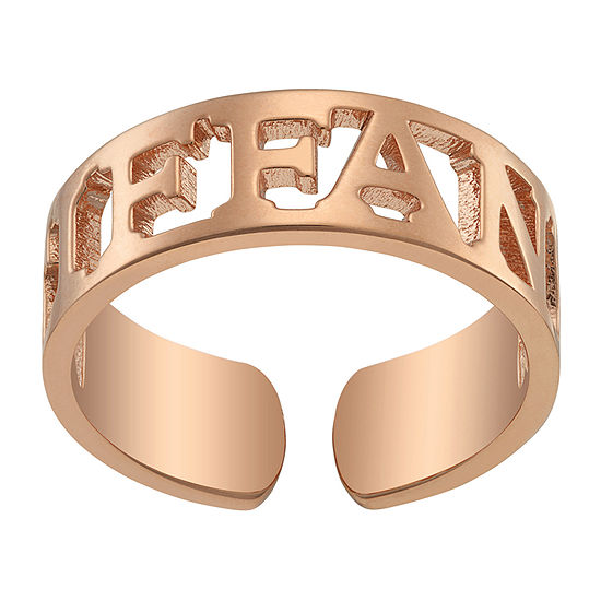 5.5MM 14K Rose Gold Over Silver Band