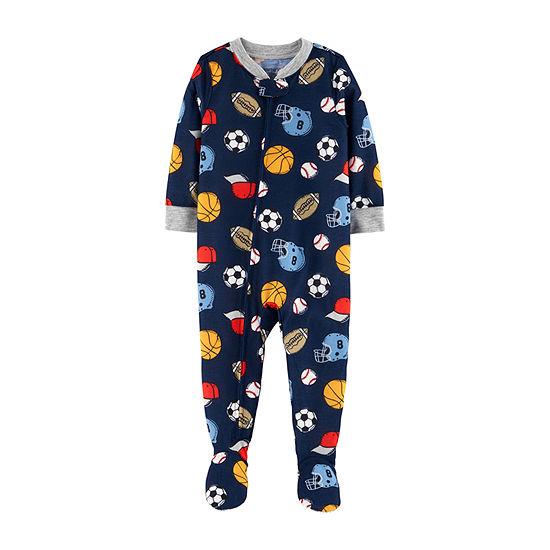 Carter's Baby Boys Microfleece Long Sleeve One Piece Pajama