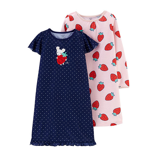Carter's 2-pc. Girls Short Sleeve Round Neck Nightgown