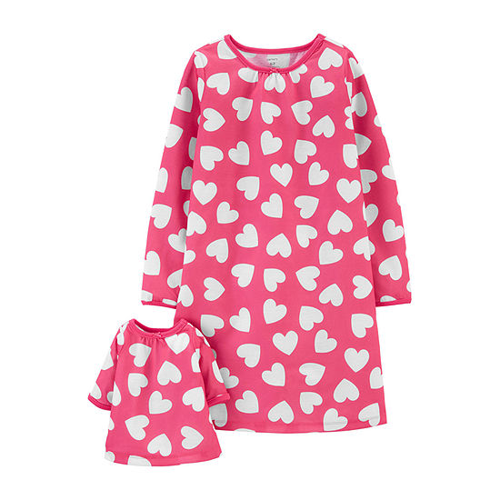 Carter's Toddler Girls 2-pc. Long Sleeve Round Neck Nightgown