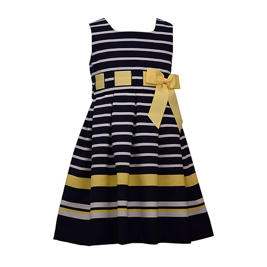 Bonnie Jean Girls Sleeveless Striped A-Line Dress - Preschool / Big Kid
