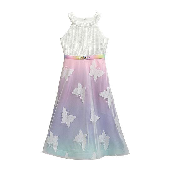 Emily West Girls Embellished Sleeveless Ombre Maxi Dress - Big Kid