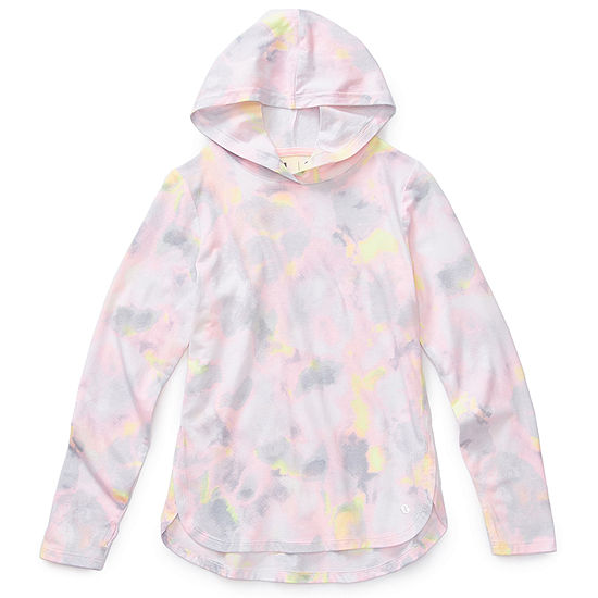 Xersion Girls Hooded Neck Long Sleeve Tunic Top Preschool / Big Kid
