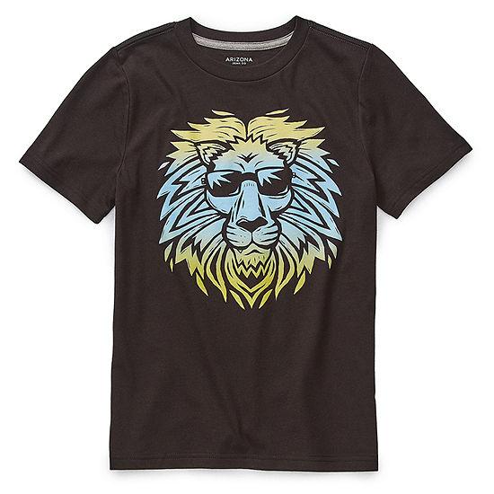 Arizona Boys Crew Neck Short Sleeve Graphic T-Shirt - Preschool / Big Kid