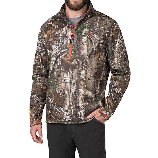 American Outdoorsman Realtree Xtra Camo Mens Mock Neck Long Sleeve Quarter-Zip Pullover