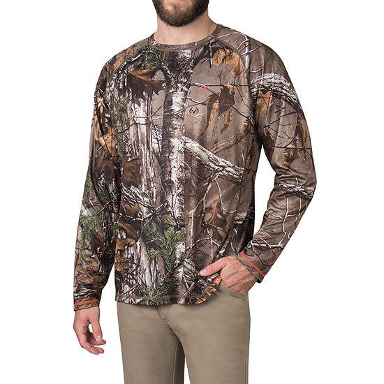 American Outdoorsman Realtree Xtra Camo Mens Crew Neck Long Sleeve Layered Top
