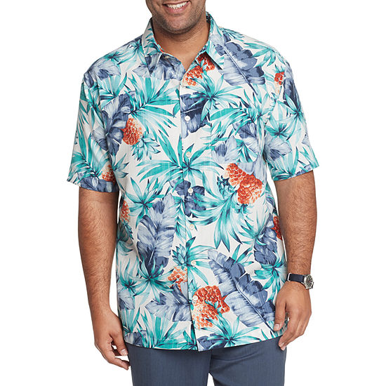 Van Heusen Big and Tall Mens Short Sleeve Button-Down Shirt