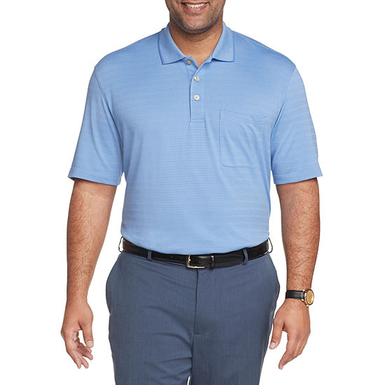 Van Heusen Mens Flex Striped Short Sleeve Polo Shirt Big and Tall