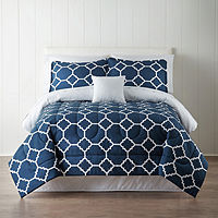 Deals on Home Expressions Tiles Complete Bedding Set w/Sheets