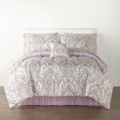 Home Expressions Rylan Floral Complete Bedding Set with Sheets