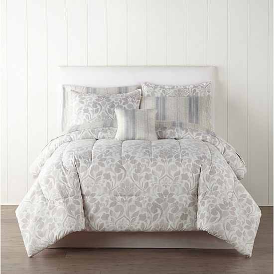 Home Expressions Ellis Trees + Leaves Complete Bedding Set with Sheets
