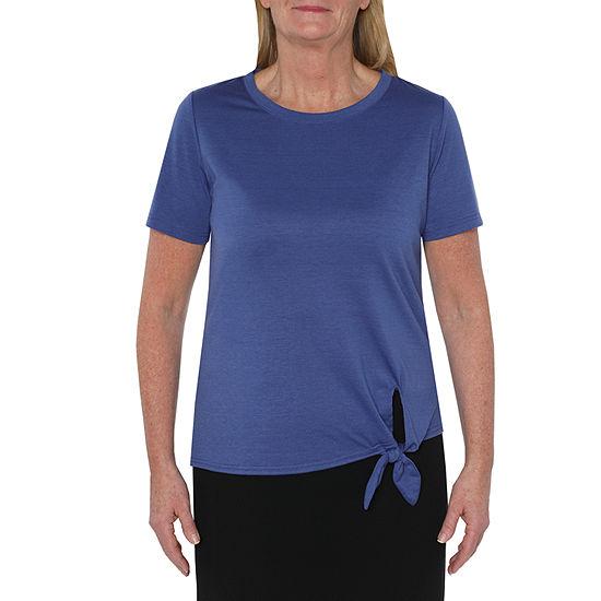 St. John's Bay Active Petite-Womens Crew Neck Short Sleeve T-Shirt