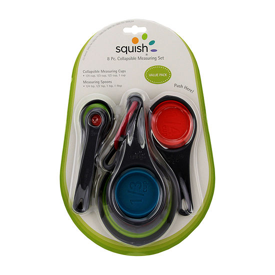 Squish 8-Pc. Measuring Set Cups + Spoons