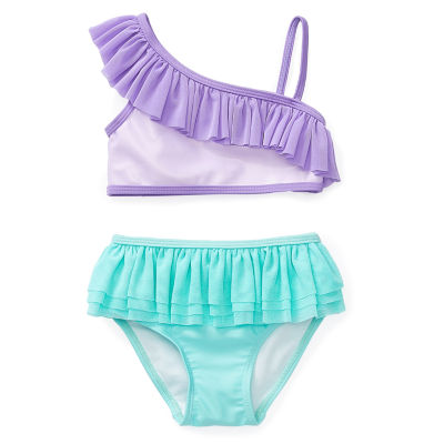 Disney Collection Little & Big Girls The Little Mermaid Tankini Set