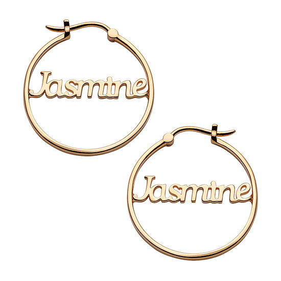 14K Gold Over Silver 25mm Hoop Earrings