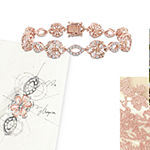 14K Rose Gold Flower Link Bracelet