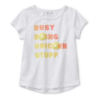 Okie Dokie Girls Short Sleeve T-Shirt - Little Kid