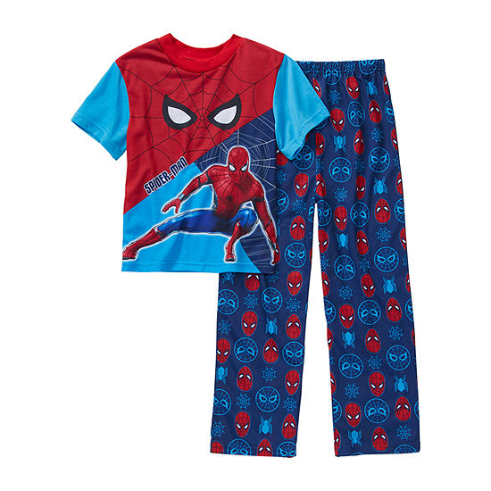 Marvel Little Kid / Big Kid Boys 2-pc. Spiderman Pajama Set