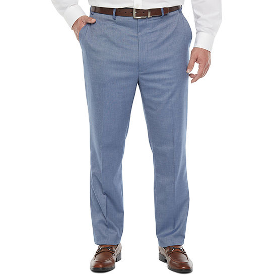 Shaquille O'Neal XLG Mens Pin Dot Stretch Classic Fit Suit Pants - Big and Tall