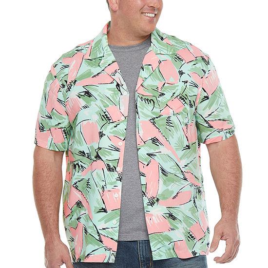 Big and Tall Mens Short Sleeve Button-Down Shirt