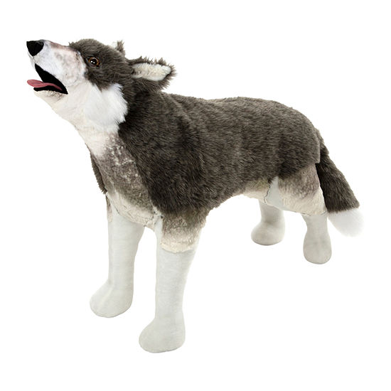 Melissa & Doug Plush Gray Wolf