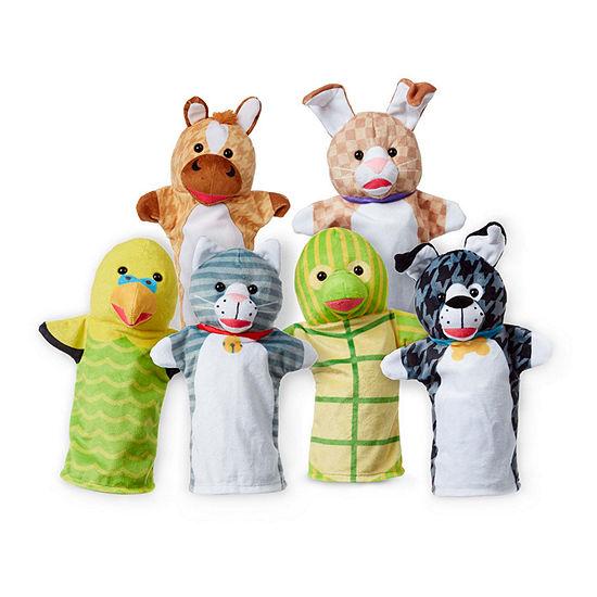 Melissa & Doug Pet Buddies Hand Puppets (6 Pc)