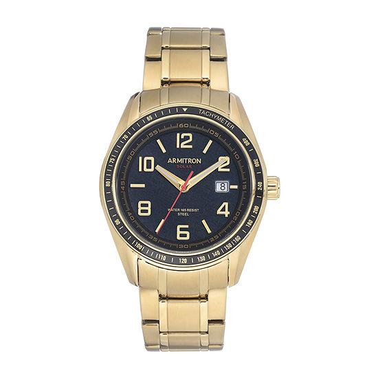 Armitron Mens Gold Tone Stainless Steel Bracelet Watch-20/5252bkgp