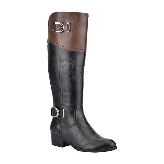 Unisa Womens Tifza Wide Calf Riding Boots Block Heel