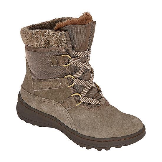 Yuu Womens Abalee Water Resistant Winter Boots Block Heel