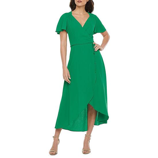 Premier Amour Short Sleeve Wrap Dress
