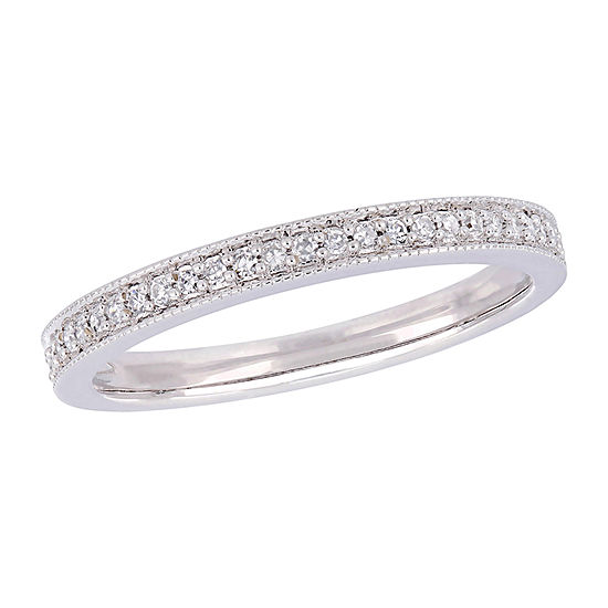 2.5MM 1/8 CT. T.W. Genuine White Diamond 14K White Gold Band