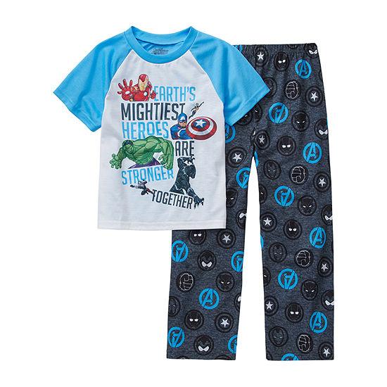 Marvel Little Kid / Big Kid Boys 2-pc. Avengers Pajama Set