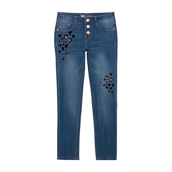 Lee Big Kid Girls Mid Rise Skinny Fit Jean